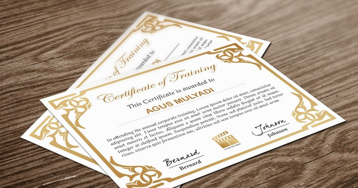 Free Indesign Certificate Template #1 | Free Indesign Throughout Indesign Certificate Template