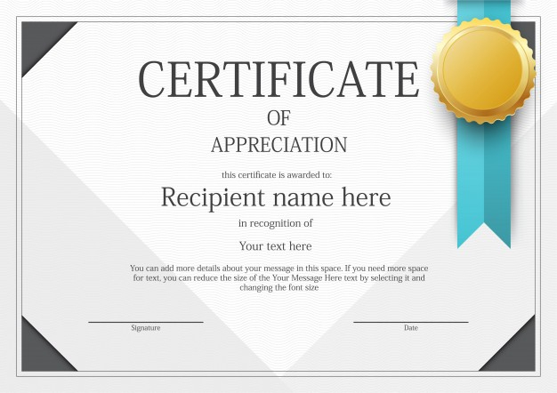 Free Modern Certificate Border Template Svg Dxf Eps Png Throughout Printable Certificate Border Design Templates