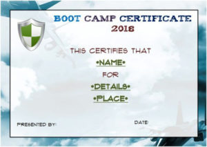 Free Printable Boot Camp Certificate | Certificate Templates Throughout Printable Boot Camp Certificate Template