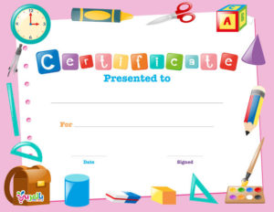 Free Printable Certificate Template For Kids ⋆ بالعربي نتعلم Inside Printable Certificate Of Achievement Template For Kids