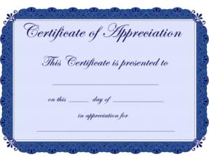 Free Printable Certificates Certificate Of Appreciation With With Free Certificate Of Appreciation Template Free Printable