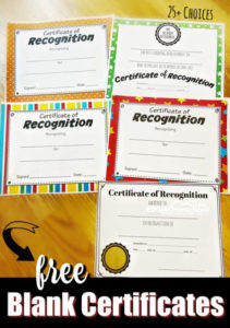 Free Printable Certificates For Certificate Of Achievement Template For Kids