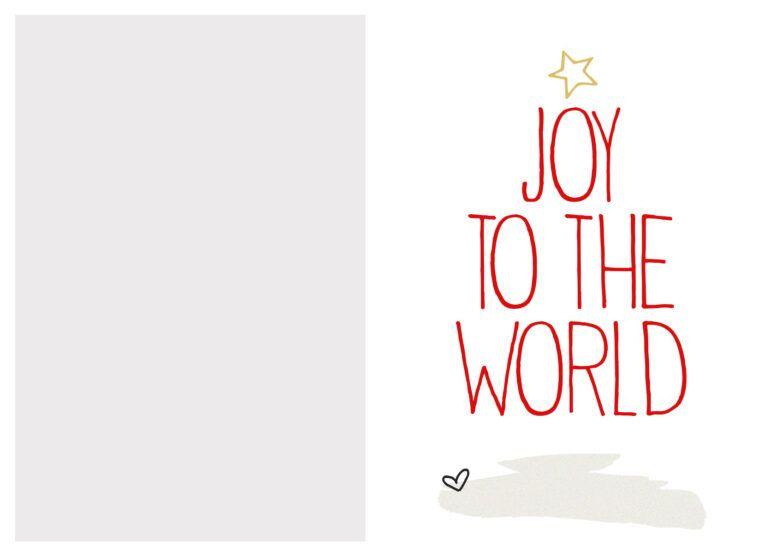 Free Printable Christmas Card Templates Christmas Throughout Free Printable Holiday Card Templates