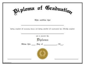 Free Printable Diploma Of Graduation. Free Printable Diploma With Regard To Best Free Printable Graduation Certificate Templates