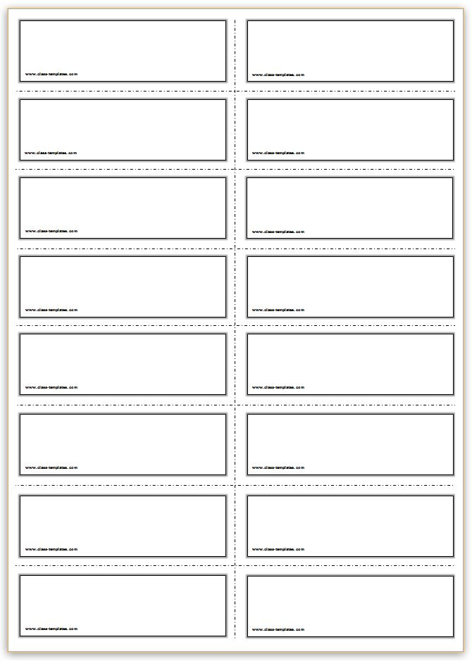 Free Printable Flash Cards Template For Best Cue Card Template