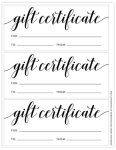 Free Printable Gift Certificate Template | Free Gift Throughout Elegant Gift Certificate Template