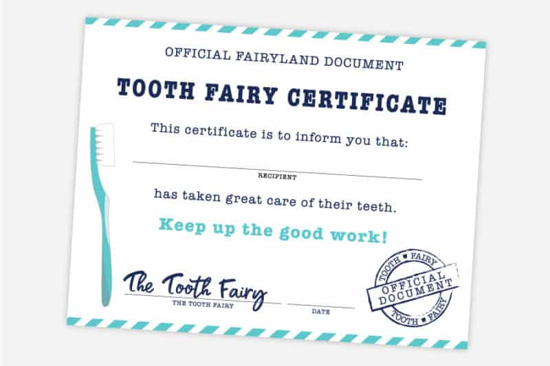 Free Printable Tooth Fairy Certificate, Receipt, Envelope With Tooth Fairy Certificate Template Free