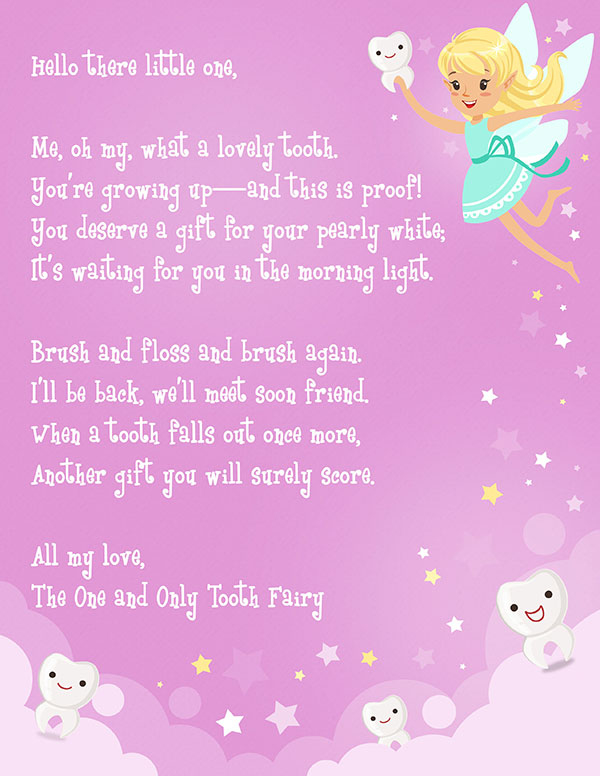 Free Printable Tooth Fairy Letter   Elfster Within Tooth Fairy Certificate Template Free