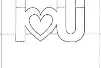 Free Printable Valentine'S Day Pop Up Card   Pop Up Card Within I Love You Pop Up Card Template