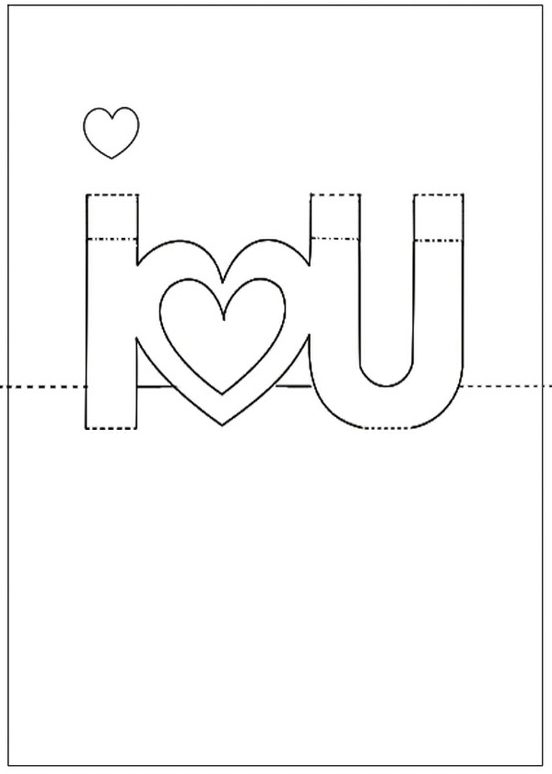 Free Printable Valentine'S Day Pop Up Card | Pop Up Card Within I Love You Pop Up Card Template