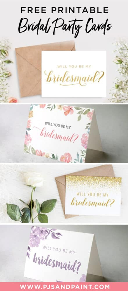 Free Printable Will You Be My Bridesmaid Cards Pjs And Paint For 11+ Will You Be My Bridesmaid Card Template