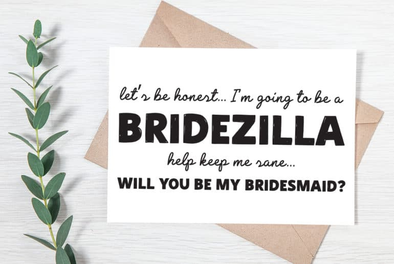 Free Printable Will You Be My Bridesmaid Cards Pjs And Paint Intended For Will You Be My Bridesmaid Card Template