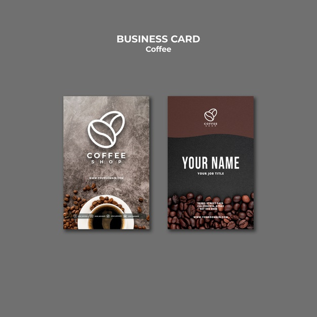 Free Psd | Professional Coffee Shop Business Card Template Regarding Best Coffee Business Card Template Free