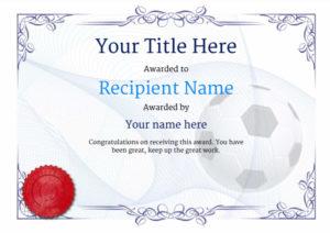 Free Soccer Certificate Templates Add Printable Badges In Best Soccer Certificate Template
