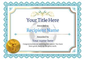 Free Soccer Certificate Templates Add Printable Badges In Soccer Certificate Template