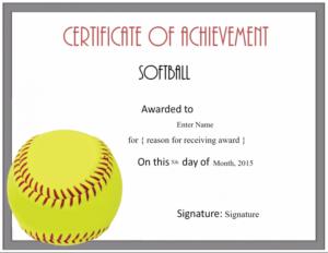 Free Softball Certificate Templates Customize Online Intended For 11+ Softball Certificate Templates