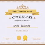 Free Vector | Certificate Template Design For Award Certificate Design Template