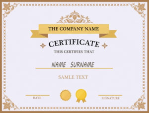 Free Vector   Certificate Template Design For Award Certificate Design Template