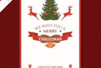 Free Vector | Cmyk Printable Christmas Card Template Pertaining To Printable Holiday Card Templates