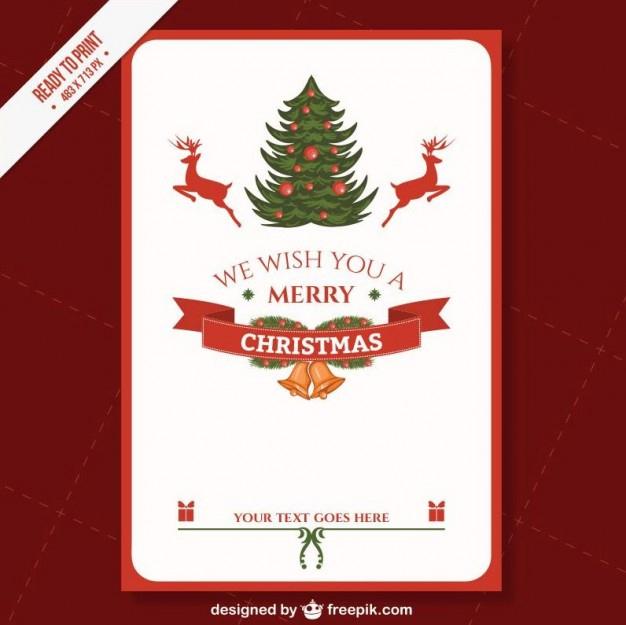 Free Vector | Cmyk Printable Christmas Card Template Pertaining To Printable Holiday Card Templates