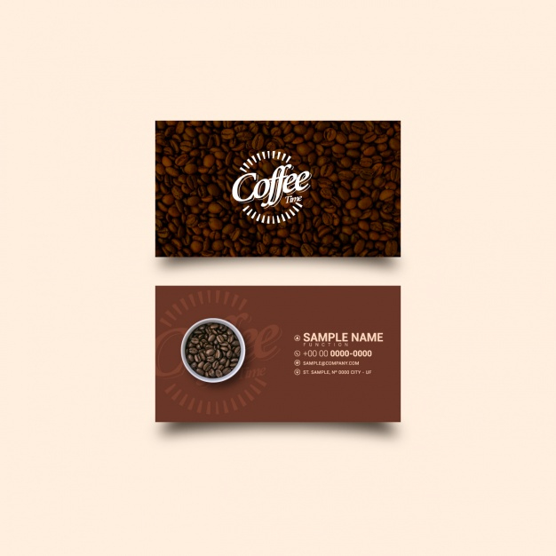 Free Vector | Coffee Business Card Template Pertaining To Best Coffee Business Card Template Free