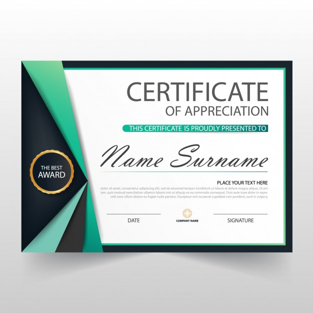 Free Vector | Elegant Certificate Of Appreciation Template Within Free Template For Certificate Of Recognition