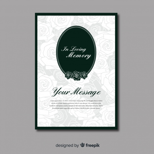 Free Vector   Funeral Card Template Intended For Printable Death Anniversary Cards Templates