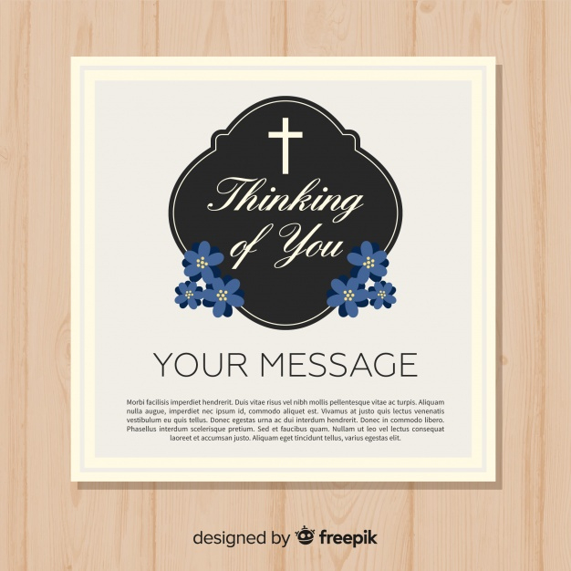 Free Vector   Funeral Card Template Within Printable Death Anniversary Cards Templates