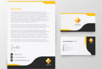 Free Vector | Modern Letterhead And Business Card Template Intended For Business Card Letterhead Envelope Template