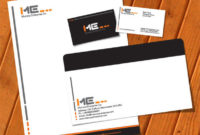 Free Vector Printable Stationery Design Template Letterhead Within Business Card Letterhead Envelope Template