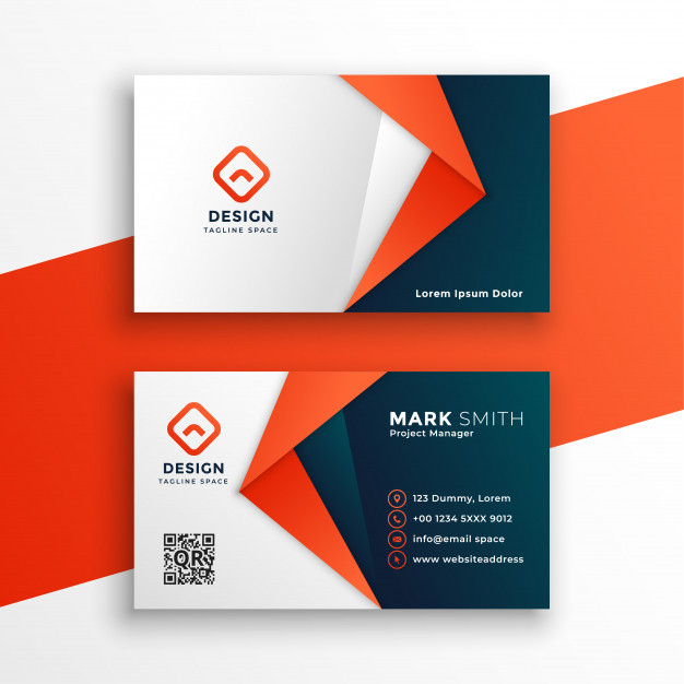 Free Vector | Professional Business Card Template Design Within Professional Business Card Templates Free Download