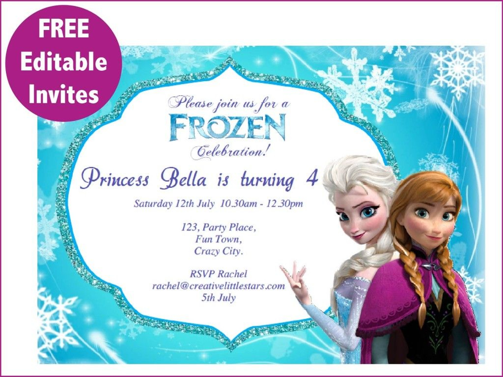 Frozen+Free+Printable+Invitations+Templates | Free Frozen Throughout Printable Frozen Birthday Card Template