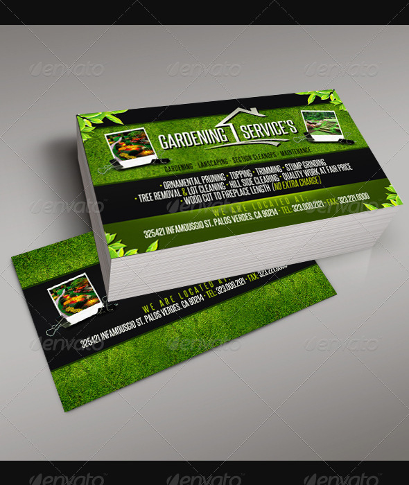 Gardening Business Card 5 Inside Printable Gardening Business Cards Templates