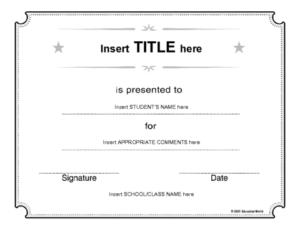 Generic Certificate Template | Education World Inside Continuing Education Certificate Template