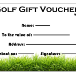Golf Gift Certificate Template (4) Templates Example Pertaining To Professional Golf Gift Certificate Template