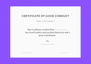Good Conduct Certificate Template (3) Templates Example Intended For Good Conduct Certificate Template