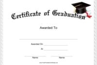 Graduation Certificate Printable Certificate | Graduation Inside Best 5Th Grade Graduation Certificate Template
