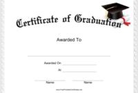 Graduation Certificate Printable Certificate   Graduation Inside Best 5Th Grade Graduation Certificate Template
