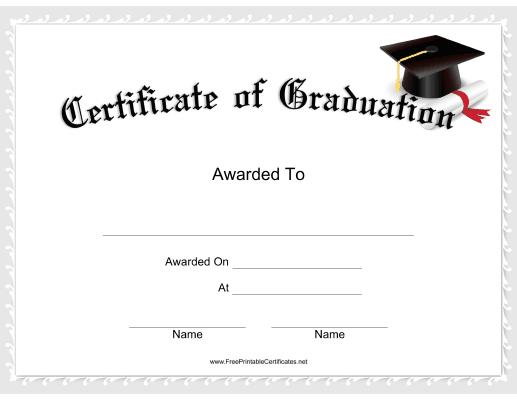 Graduation Certificate Printable Certificate | Graduation Inside Best 5Th Grade Graduation Certificate Template