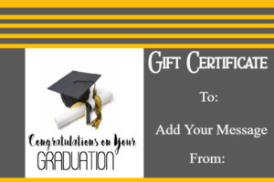 Graduation Gift Certificate Template Free & Customizable Inside Free Graduation Gift Certificate Template Free