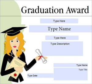 Graduation Gift Certificate Template Free In 2020 Throughout Graduation Gift Certificate Template Free