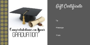 Graduation Gift Certificate Templates 101 Gift Certificate For Graduation Gift Certificate Template Free