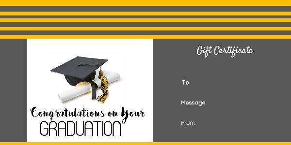 Graduation Gift Certificate Templates 101 Gift Certificate Pertaining To Graduation Gift Certificate Template Free