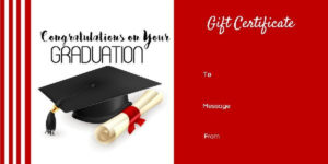 Graduation Gift Certificate Templates 101 Gift Certificate Throughout Free Graduation Gift Certificate Template Free
