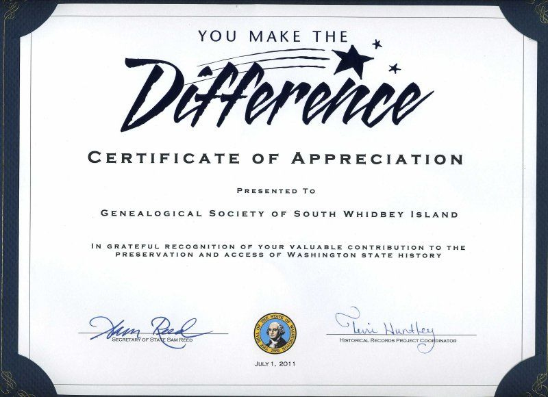 Gsswi: Awards | Certificate Of Recognition Template Regarding Volunteer Certificate Template