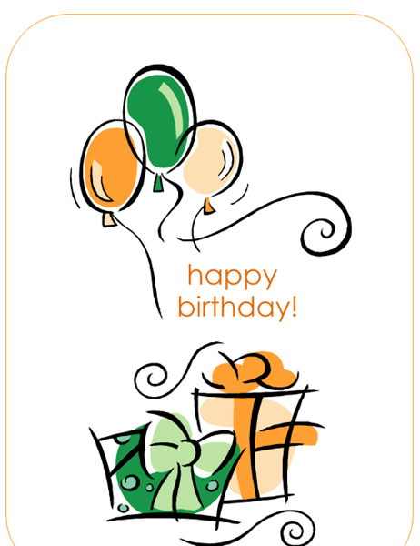 Happy Birthday Card (With Balloons, Quarter Fold) In Best Quarter Fold Birthday Card Template