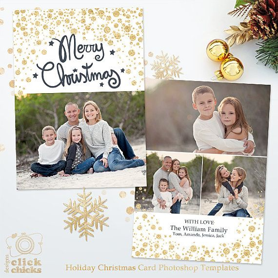 Holiday Christmas Card Template For Photographers 5X7 Photo Pertaining To Holiday Card Templates For Photographers