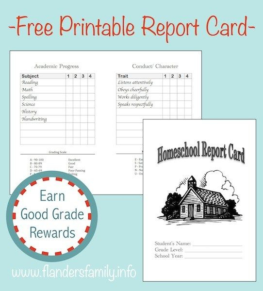 Home School Report Cards (Free Printable) | School Report With Regard To Homeschool Report Card Template Middle School