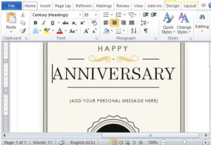 How To Create A Printable Anniversary Gift Certificate For Employee Anniversary Certificate Template