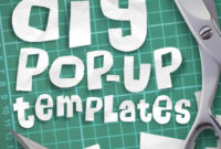 How To Make A Pop Up: Print Ready Pdf Pop Up Templates In 11+ Diy Pop Up Cards Templates